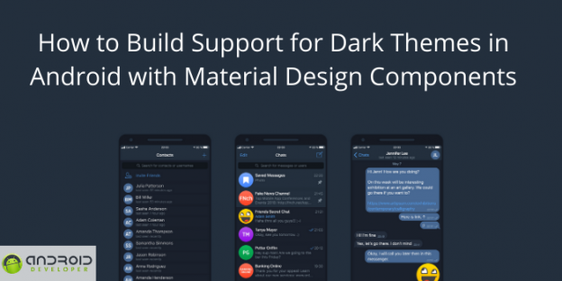 How to Build Support for Dark Themes in Android with Material Design Components